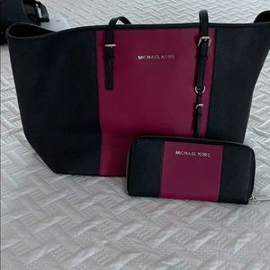 MK tote with matching wallet